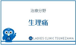 治療分野_生理痛,レディースクリニックつねざわ【福井市・福井駅東】産婦人科